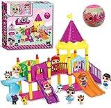 MYYDD Poupée Enfants Jouer Maison Jouets Enfants Aire de Jeux Parc d'attractions série Jouer équipement Jouets Filles Cadeaux Jouets,A...