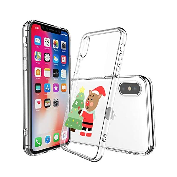 Oihxse Case Compatible con Huawei Honor 20 Pro Funda Transparente Silicona Suave Carcasa Protectora Navidad Santa Deer… 4