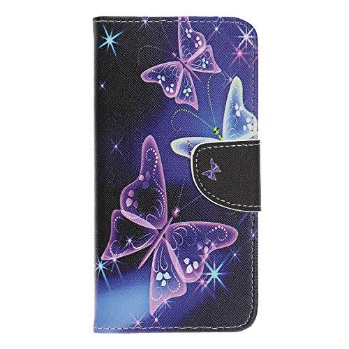 Thoankj Sony Xperia 10 Hülle Flip 2019 [Wallet Case] Stoßfeste PU Leder Notebook Wallet Case mit Kickstand Kartenhalter Slot Slim Schutzhülle für Sony Xperia 10