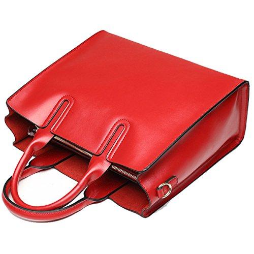 La Signora Semplice Borsa In Pelle Di Grande Capacità Dimensioni 33 * 13 * 29 Centimetri Red