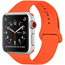0295da6fbffb Amazon.es  correa naranja apple watch