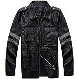 Vivian Resident Evil Biohazard Leon Disfraz Cosplay PU chaqueta de cuero Hombres Abrigo,Tamaño M:160-165 cm