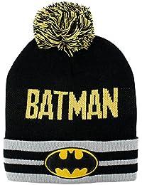 Bonnet à pompon Batman DC Comics noir jaune