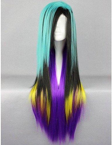 Fashion wigstyle Anime Modellier Mixed Farbe Hohe Qualität Haar Glattes Haar auf Verkauf billige
