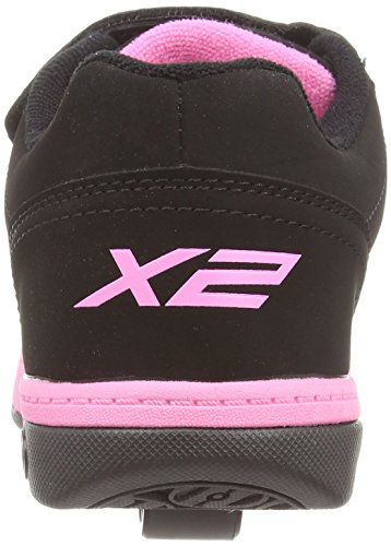 Heelys Dual Up 770231 - Sneakers Basses - Fille Multicolore (Black/Pink)