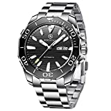 BERSIGAR BG-1617 Relojes automáticos de los Mejores Hombres - Reloj de Negocios Informal con...