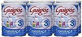 GUIGOZ 3 Croissance - Lait de croissance en poudre de 1 à 3 ans - Boîte de 900g - Pack de 6