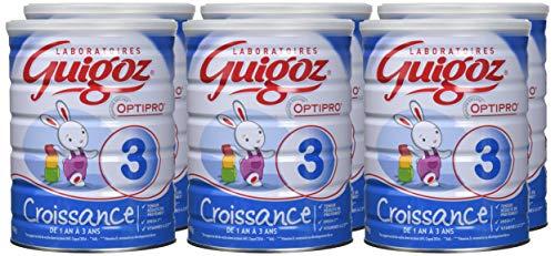 GUIGOZ 3 Croissance - Lait de croissance en poudre de 1 à 3 ans - 900g - Pack de 6