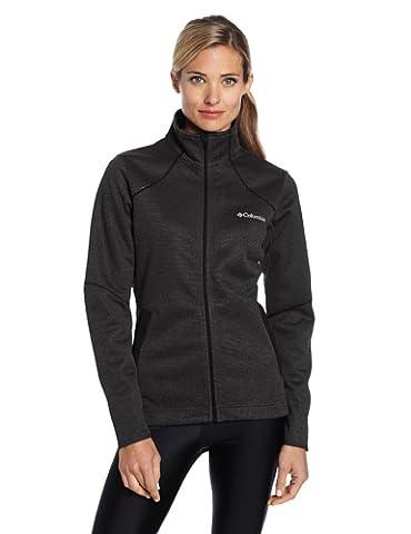 Columbia Women's Wind D-Ny II Fleece Jacket, Black Heather, Large