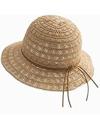 MuMa Viseras Sombrero De Paja Sombrero De La Playa De Las Mujeres Cubo  Sombreros Plegable Encaje e6e06eac2b1
