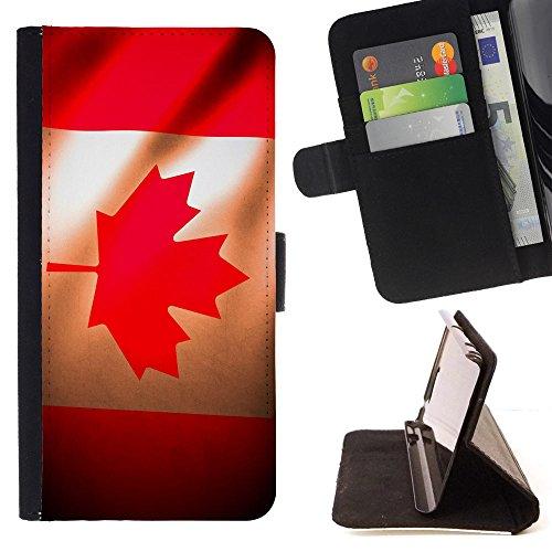 """Graphic4You Vintage Uralt Flagge Von Kanada Kanadier Design Brieftasche Leder Hülle Case Schutzhülle für Apple iPhone 6 Plus / 6S Plus (5.5"""") Design #9"""