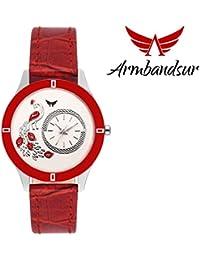 Armbandsur designer dial Red watch for women-ABS0070GRR