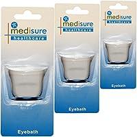 mediusure Healthcare One Size Kunststoff Augenwischerei Schmerzen lindern Reinigung Eye Bad Cup X 3 preisvergleich bei billige-tabletten.eu