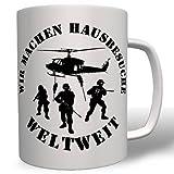 Gsg-9 Wir Machen Hausbesuche Weltweit Bundeswehr Wh Wk Kampf Soldaten Flugzeuge Hubschrauber Sar Search Rescue Hell - Tasse Kaffee Becher #16764