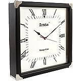 [Sponsored]Artshai 16 Inch Designer Antique Look Wall Clock, Square Shape, Silent Movement, Luxury Wall Clock