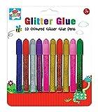 Anker-Kids Create Arts und Crafts Farbige Glitter Glue Stifte, Kunststoff, Farbe sortiert, 10tlg.