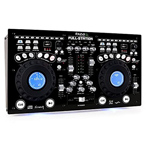 Ibiza FULL-STATION Professional Twin CD/USB/SD Mixing