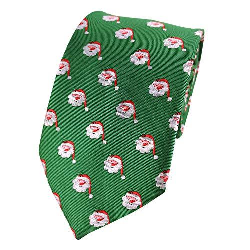 Guuniee Herren Krawatte Schwarz Schwarz Medium Gr. Medium, Santa Claus Green