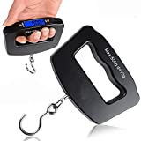 Photron PH-WTS-500 Portable Mini Electronic Digital Hand Held LCD Fish Hook Hanging Luggage Weight Weighing Scale with Blue LED Backlight Display, 50kg/10g