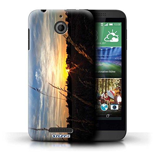 Kobalt® Imprimé Etui / Coque pour HTC Desire 510 / plage conception / Série Coucher du Soleil limite forestière