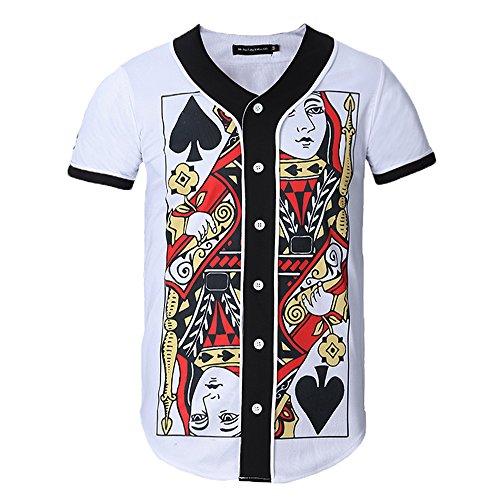 Yonbii Herren T-Shirt Jersey-16 Jersey-16