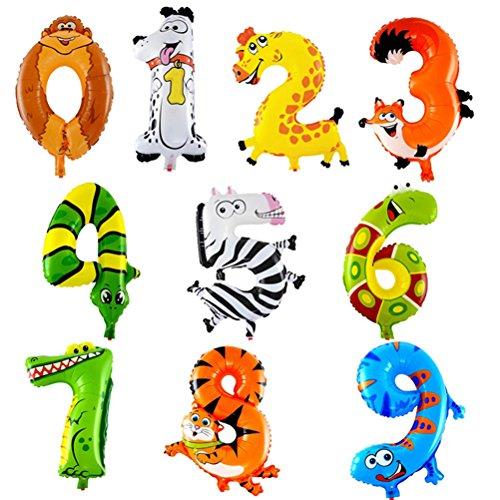 TOYMYTOY 40cm Tier Anzahl Ballons Set - Kindergeburtstag Party Bevorzugungen, Baby Party
