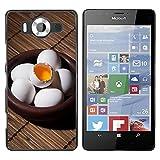 OB-star ( Huevo ) NOKIA Lumia 950 Impreso Colorido Protector Duro Espalda Funda Piel De Shell