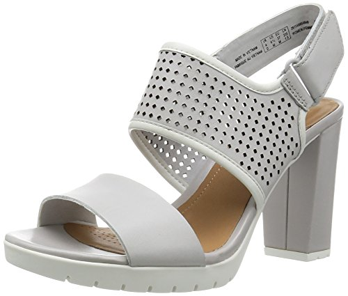 Clarks Pastina Malory Damen Slingback Pumps Grau (Light Grey Lea)