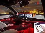 Auto Innenraum Dekorative Streifen Line,Neon-EL-Streifen-Licht-Ton-aktive Bluetooth-Telefon-Steuerung 4M RGB RGB LED (Fit IOS und Android)