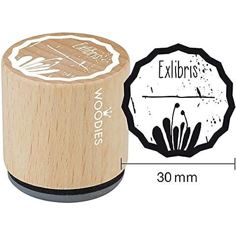 Woodies sello de goma montado 1.35-inch exlibris 1, acrílico, multicolor, 3piezas