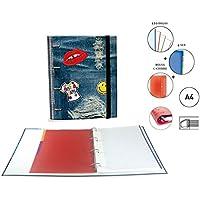 Carpeta Equipada Katacrak Jeans 119047, A-4 4 Anillas (Sticker Jeans)