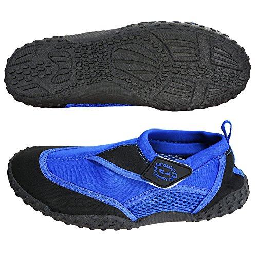 Nalu Adults Blue Black Aqua Shoes SIZE 10