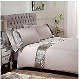 Sienna Pailletten Bettbezug-Set, Mink, 100% Polyester, Weiche Microfaser, Natur golden Mink, King