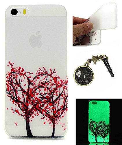 TPU Leuchtende Nacht Silikon Schutzhülle Handyhülle Painted pc case cover hülle Handy-Fall-Haut Shell Abdeckungen für Smartphone Apple iPhone 5 5S SE +Staubstecker (8) 11