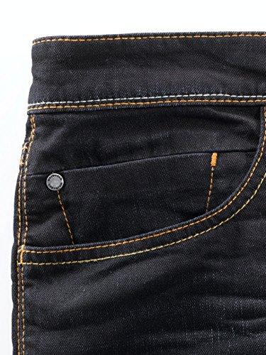 Walbusch Herren Jeans-Jeans einfarbig Slim Fit in den Farben Blau, Dark Blue Dark Blue