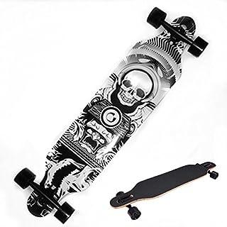 Ancheer Longboard 40 Zoll Lange Cruiser Skateboard Komplett mit Leuchtrollen, ABEC-11 Lager, 101x25x14cm, für Erwachsene Jugendliche Kinder Jungen Mädchen