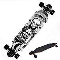 Ancheer Longboard Complete Long Skateboard for Kids Adults--ABEC-11 Bearing, 9 Ply Canadian Maple Wood, 90A PU Bushing, Anti-Bite Technology, OS780 Grip Tap