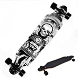 Ancheer Longboard Skateboard Board Cruiser-Komplettboard mit ABEC-9 High Speed Kugellager ,103x25x10cm