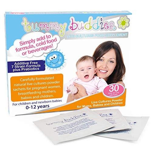 Kinder Probiotik Pulver - 30 Tage Vorrat - Tummy Buddies - 1 Milliarde gute Bakterien pro Beutel - Hochentwickelte Multi-Stamm probiotische Formel - geeignet für Säuglinge, Kleinkinder und Kinder.