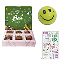BOGATCHI All The Best Chocolate Gift for Exams, 6pcs + Free Exam Wishes Card + Smiley Ball