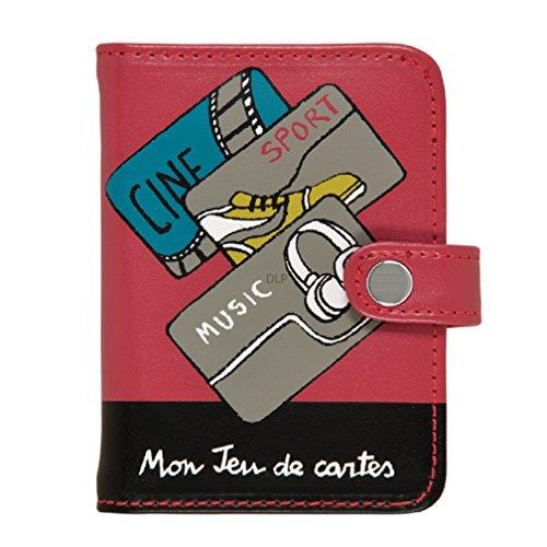 Porte-cartes FOLK Mon jeu de cartes - rouge/noir - dlp