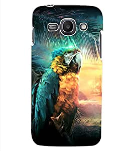 ColourCraft Beautiful Parrot Design Back Case Cover for SAMSUNG GALAXY ACE 3 LTE S727