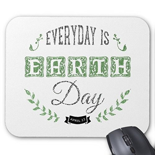 tappetino Mouse da Gioco è una giornata della terra rettangolo Ufficio quotidiana 22,9x 17,8cm