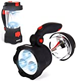 Duronic Hurricane 4 in 1 Rechargeable Wind-Up Dynamo Flashing Red LED, 10 LED Lantern & 3 LED Torch - USB Charging Function + 2 Year Warranty