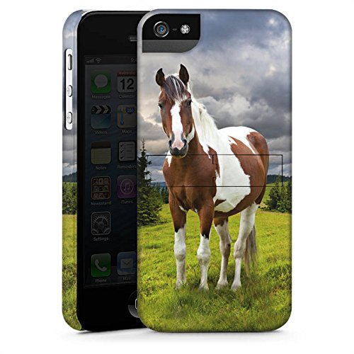 Apple iPhone X Silikon Hülle Case Schutzhülle Pferd Stute Mustang Premium Case StandUp