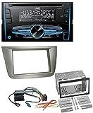 caraudio24 JVC KW-R520 MP3 USB CD 2DIN AUX Autoradio für Seat Altea XL Altea Toledo Silber