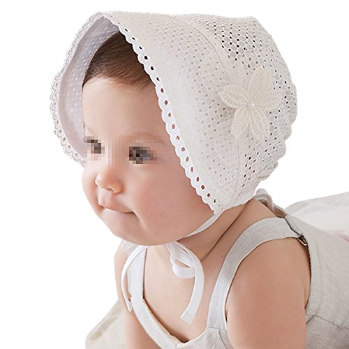 TININNA bébé été Respirant 802735 Fleurs Chapeau Protection UV Soleil Enfant été Chapeau Casquette Taille Unique Weiß