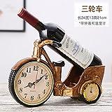 Wein Ornamente Vintage Europäischen mit Uhren Schmuck Wein Dekoration Rack