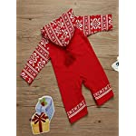 BaojunHT Unisex Christmas Hooded Jumpsuit Button Pajamas Branch Print Romper Outfits