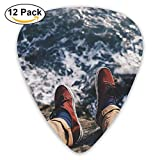 Feet Sea Waves Vacation Edge Cliff Guitar Pick 12pack